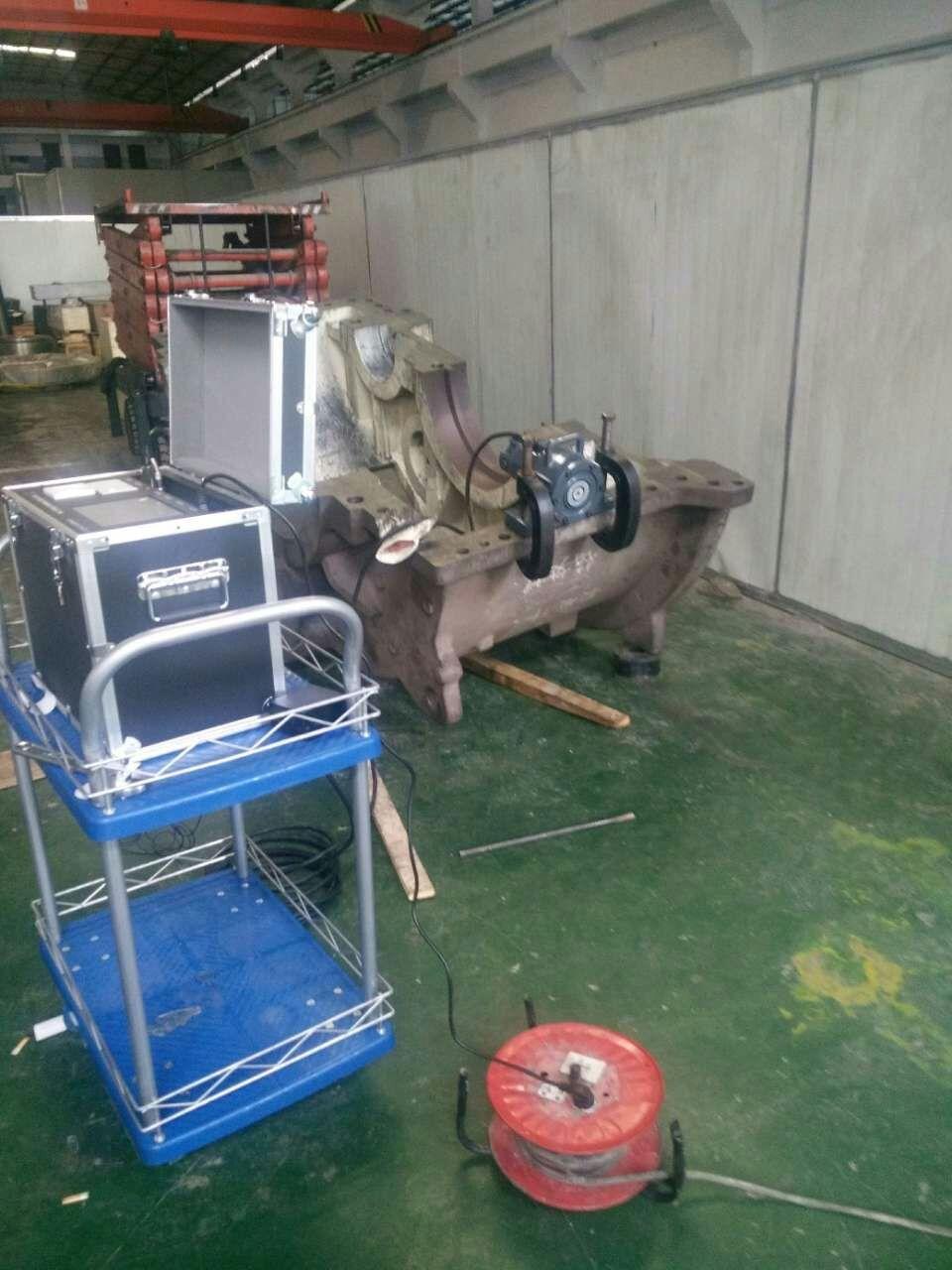 重慶智展齒輪鑄鋼齒輪箱時效處理現場